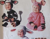 McCalls P315/Uncut Sewing Pattern/Baby, Childrens Costumes/Size 2-3-4/Cow/Pig/Lamb/1996