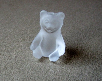 Swarovski Crystal Tiny Teddy Bear - Hole for Post for Pendant/Charm