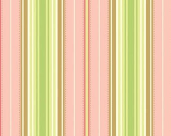 Free Spirit Heather Bailey -FRESHCUT-Lounge Stripe-Peach PWHB027 -  1 Yard Cut
