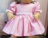 Pink Dots and Daisies Dress and Panties for Bitty Baby