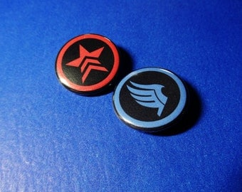 Renegade and Paragon Pinback Button (or Magnet)