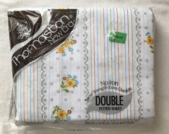 Vintage Full Fitted Sheet, new in plastic