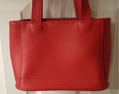Vintage Coach Leather purse - red