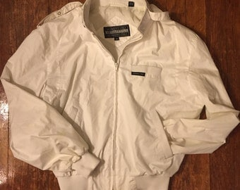 White Members Only Jacket Windbreaker 80s