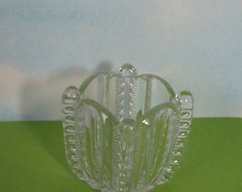 EAPG Square Glass Toothpick Holder.