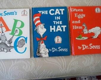 Vintage Books Children's Dr. Seuss Set of Three I Can Read Beginner Reader