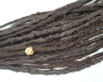 21 Light Brown synthetic dreads. Synthetic dreads, dreadlocks, dreads, synthetic dreadlocks, dreadlock extensions, long thin single ended