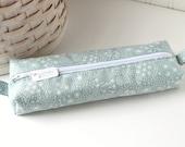 Mint Pastel Cute Pencil Case Boxy Pouch Dandelion Fluff Zipper Pouch
