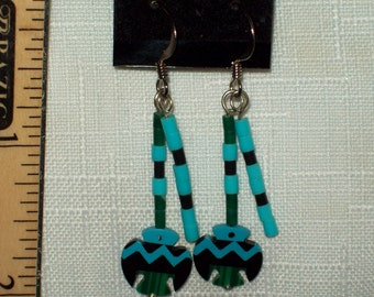 Inlaid Native American Earring