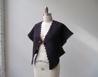 victorian era handknit wool capelet