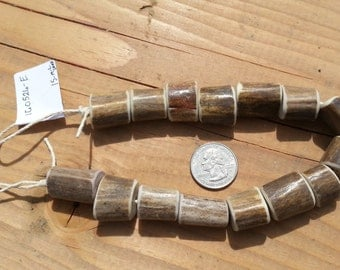 Deer Antler Beads- Focal Beads - Strand as Shown - 15 Pieces Lot No. 160526-E