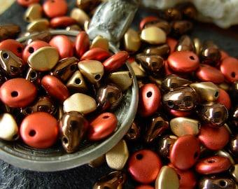 Assorted Beads, 6x4mm Teardrop Beads, 6mm Lentil Beads, 5mm Pinch Beads, Czech Glass Beads (#3DC)