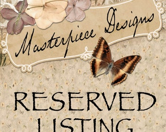 Reserved Listing for Tonya Mitchell