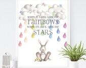 When it Rains Look for Rainbows wall art print