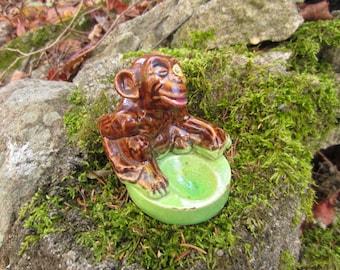 Vintage Monkey Pipe Holder Ceramic made in Japan