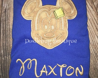 Mickey waffle shirt with name ANY SIZE