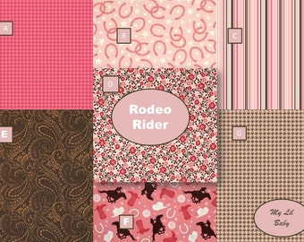 Custom Baby Girl Quilt With Rodeo Rider Fabric by the Riley Blake