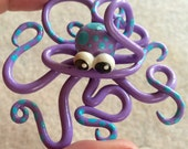 Baby Purple Octopus FIMO
