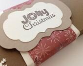 Christmas tags, boxed tag set, holiday tags, boxed holiday tags - set of 12 tags in box
