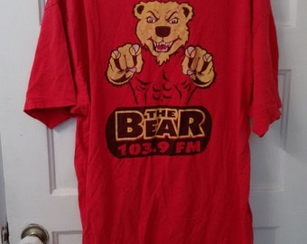 FLASH SALE The Bear 103.9 FM radio tshirt shirt 80s disc jockey dj radio station
