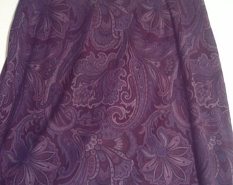 SALE purple paisley skirt hippie size 12 32 grunge bohemian beatnik mini skirt 60s 90s mod
