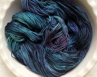 LAFS OOAK--Classic Sock-- Hand Painted Superwash Merino Wool/Nylon Sock Yarn