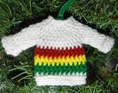 Mini Rasta Sweater Christmas Ornament