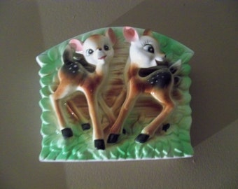 Bambi deers  pair on a wall pocket
