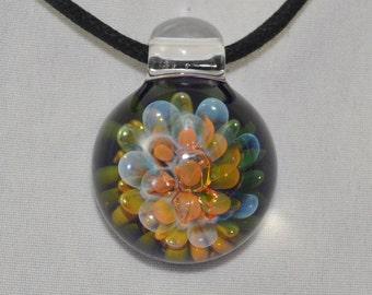 Glass Pendant - Handblown Glass Necklace - Boro Lampwork Glass Jewelry - Trippy Heady Pendants