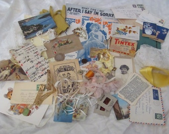 50 Pieces Antique Inspiration Kit for Craft, Scrap Book or Mixed Media Projects (lot 5)
