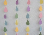 Pastel rainbow-colored sprinkle shower strands