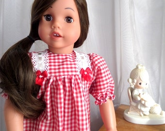 18 Inch Doll Clothes / Doll Nightgown / Nightgown / Doll Sleepwear / Doll Clothing / Doll Accessories / Fits American Girl Doll - 6002