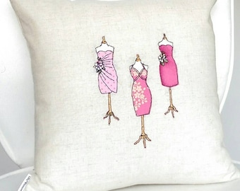 Freehand Embroidery Handmade Mannequin Trio Cushion Cover