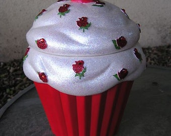 A Taste of Roses Bling Cupcake Jar