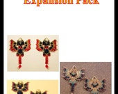 Six Alternate Beaded Dragon Earring Pattern Charts INSTANT DOWNLOAD