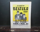 The Beatles At Shea Stadium Poster Autographed By Sid Bernstein