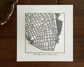 Charleston, SC or Greenville, SC pressed prints