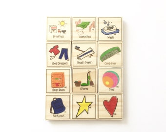 Basic Daily Chore Magnet Set of 12 - Chore Magnets