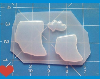SALE I Love Ohio   Flexible Plastic Handmade Resin Mold-