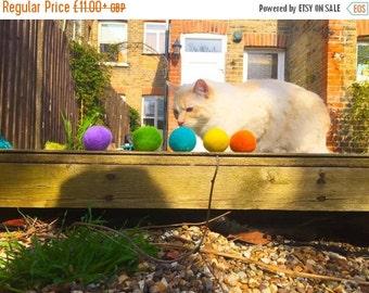 Summer SALE Felt Balls Cat Toys x 6 - catnip scented
