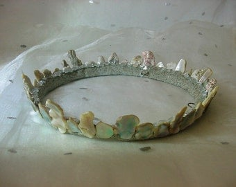 Abalone Shell Mermaid Seashell Crown Beach Wedding