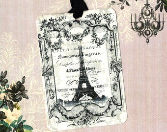 Tags, French Style, Paris, Eiffel Tower, Gift Tags, Party Favors