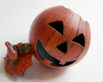 Jack O Lantern - One of a Kind - Pumpkin Head - Halloween - Decoration