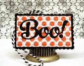 Halloween Tags, Halloween Treat Bag Tags, Halloween Escort Cards, Orange and Black Halloween Tags, Boo Tags, Glittery Halloween Tags,