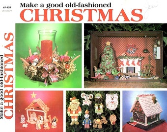 Make a Good Fashioned Christmas How To Directions Gingerbread House Bread Dough Creche Ornament Clothespin Doll Craft Pattern Leaflet HP454