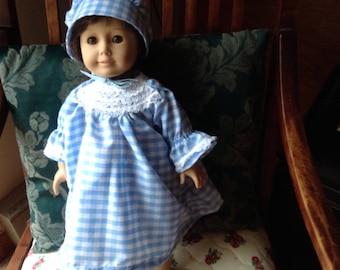 American Girl Pioneer or Prairie Dress with bloomers
