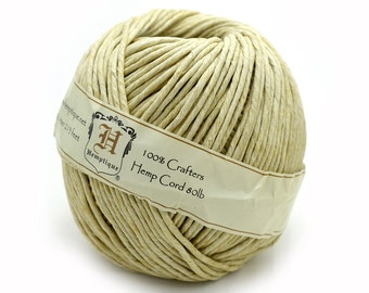 2mm Hemp Twine,  80lb,  Natural Hemp Twine, Craft Rope,  Twine, Craft Supply -T99
