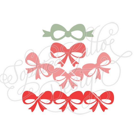 Download Cute Bows & Gift Ribbons SVG DXF digital download files ...