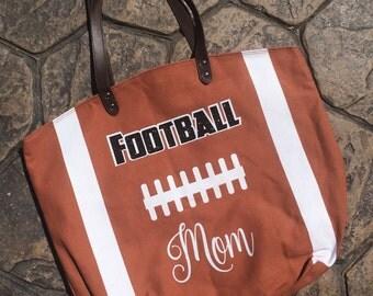 Football MOM Canvas Tote, Football Mom Bag, Large Tote Bag, Canvas Bag, Football Bag, Football Tote Bag