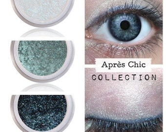 White Frost, Icy Blue, Eyeshadow, Eye Color, Pure Natural, Mineral Cosmetics, Long Wearing, No Crease Shadow, No Smudge Smear, APRES CHIC
